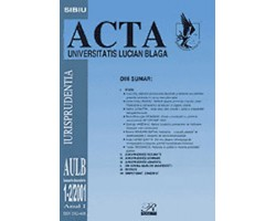 Acta Universitas Lucian Blaga